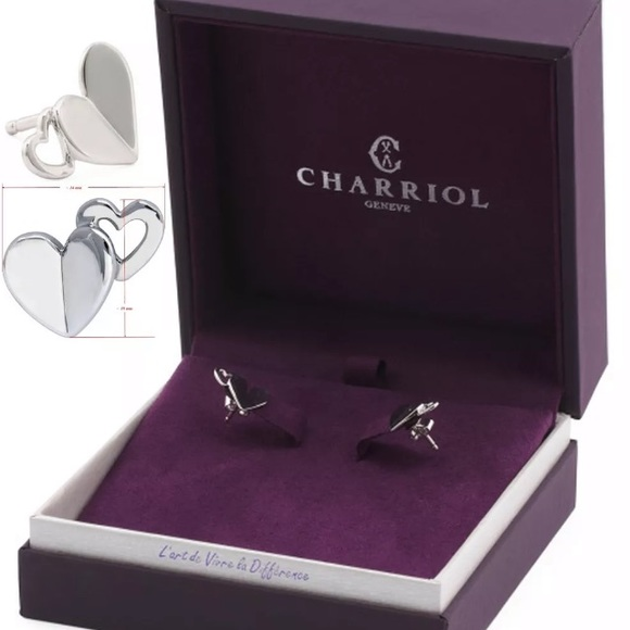 CHARRIOL Mouni Double Hearts Earrings